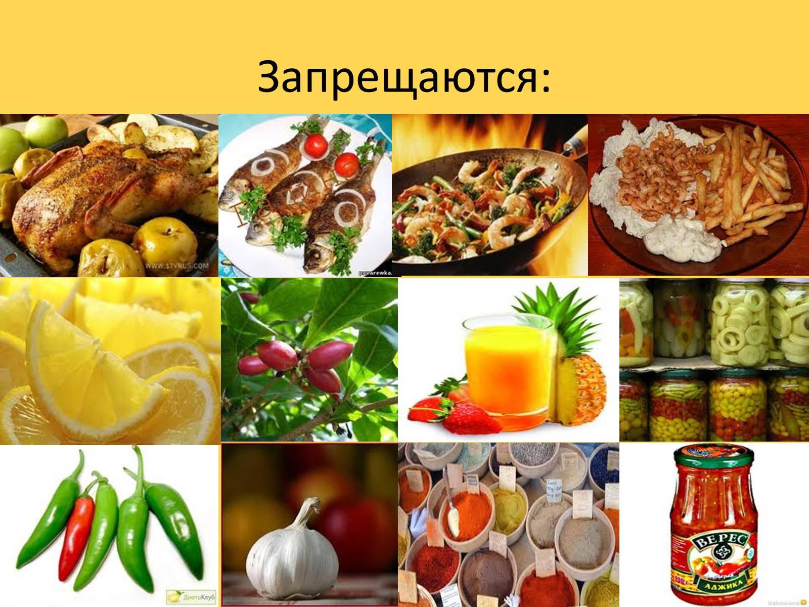 Презентация по медицинским диетам